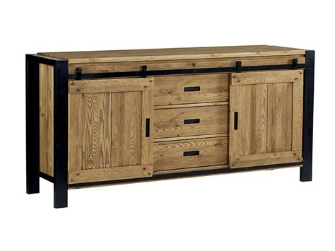 bureau bois design meuble de salle à manger style industriel lugano meuble