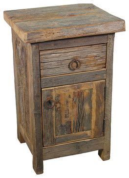 Rustic Nightstand Plans by Barn Wood Nightstand Rustic Nightstands And Bedside Tables