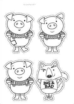 Printable Three Little Pigs House Templates Three little