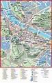 Salzburg city center map