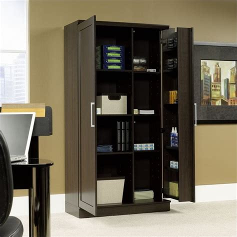 sauder homeplus jumbo dakota oak storage cabinet