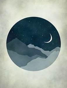 Starry Night, Moon and Stars, Nursery Decor, Kids Wall Art ...
