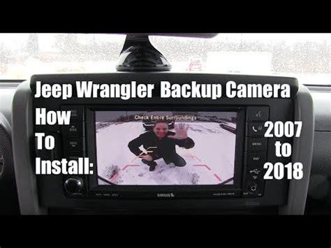 jeep wrangler backup camera   install
