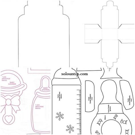 moldes de biberones para baby shower en foami baby shower ideas adornos para baby shower