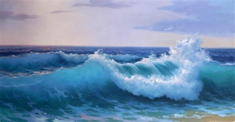 cheap paintings for sale original sea waves painting 24 quot x48 quot id 9228