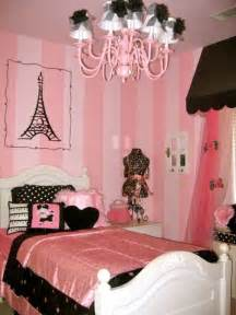 Gold And White Chevron Curtains by Pink And Black Paris Themed Bedroom