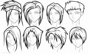 Anime Hair Drawing Tutorial images