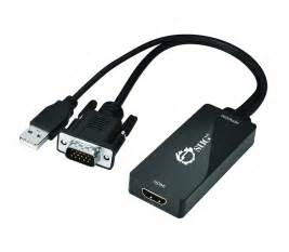 SIIG® Portable VGA and USB Audio To HDMI Converter, Black