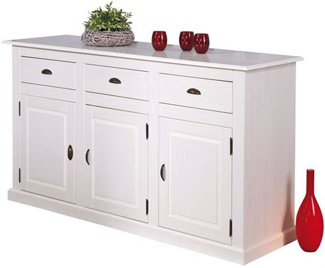 meuble cuisine blanc pas cher bahut bas pin blanc pas cher comforium