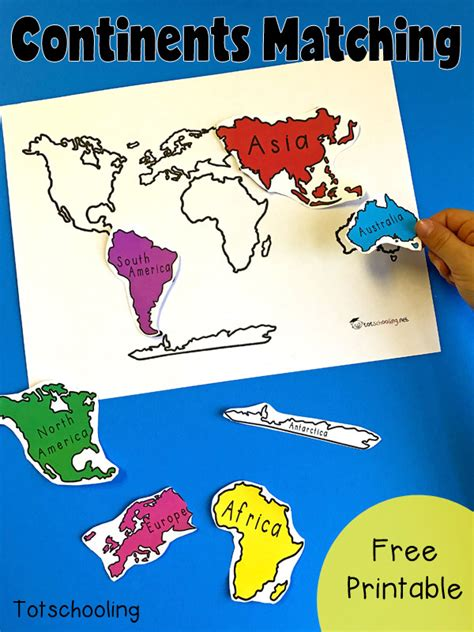 7 continents of the world matching activity geography