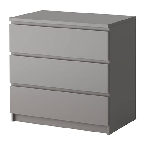 Ikea Malm 6 Drawer Dresser Package Dimensions by Malm 3 Drawer Chest Gray Ikea