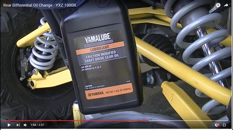 rear differential oil change yxz  youtube