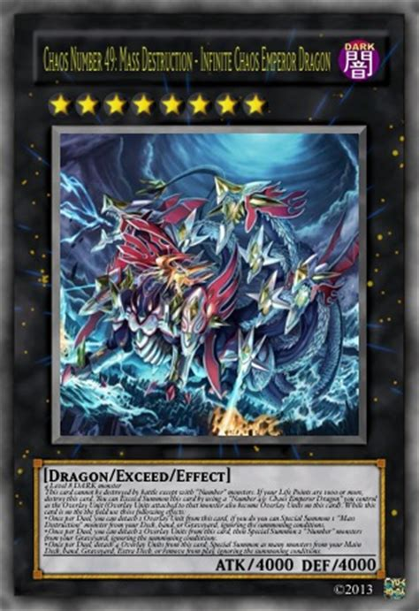 chaos number 49 infinite chaos emperor dragon by