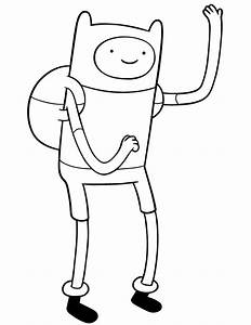 Adventure Time Finn Coloring Page | H & M Coloring Pages