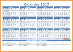 2017 Calendar with Week Numbers