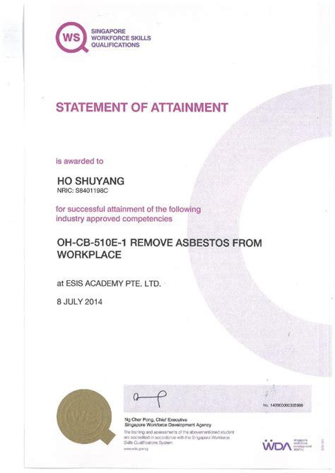 certification asbestos kim