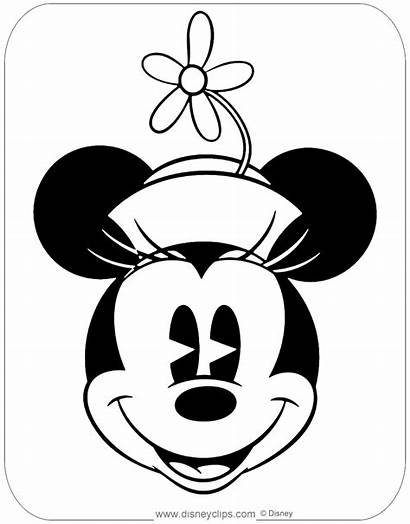 Minnie Classic Mouse Coloring Face Pages Disneyclips