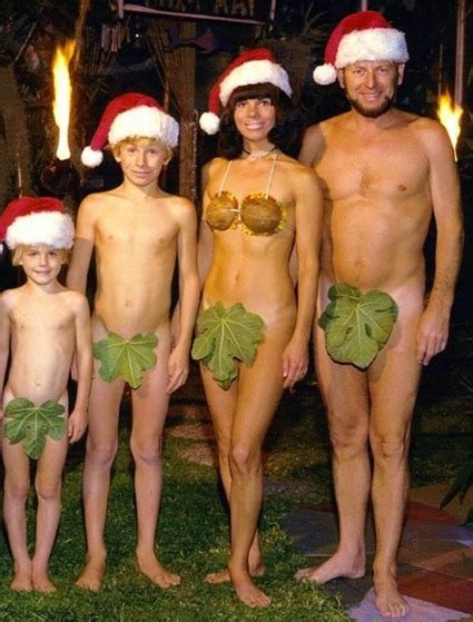 Family Christmas Card Nudity Just Say No Updated