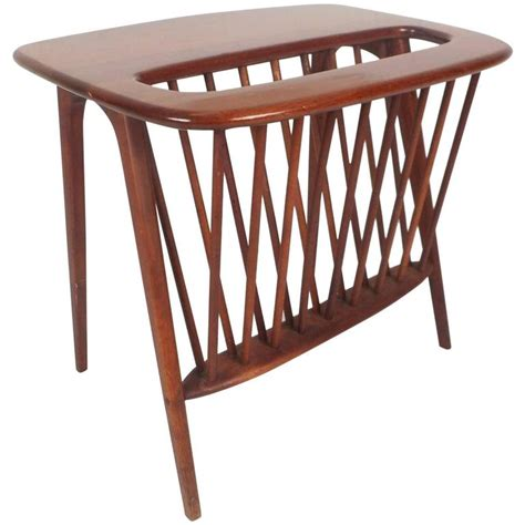 modern magazine rack mid century modern magazine rack or side table by arthur