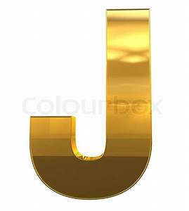 letter j from gold with gold frame alphabet set isolated With gold letter j