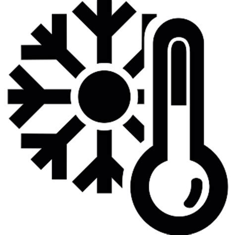 Mercury Thermometer and a snowflake - Free weather icons