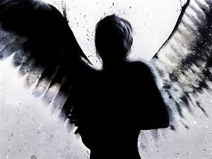 Dark Silhouette Angel Wallpaper - Angel Wallpaper