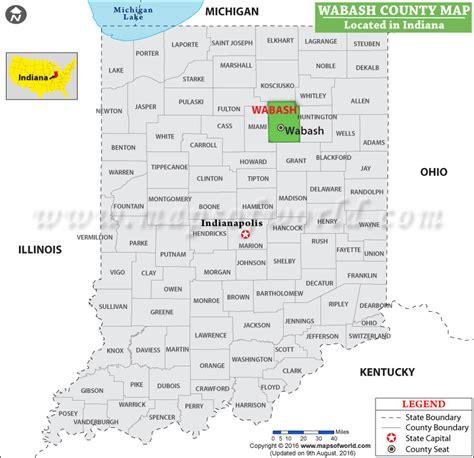 Wabash County Map, Indiana