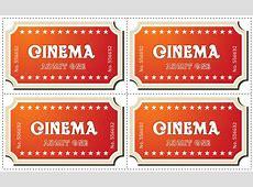 Movie Ticket Template Printable Word Invitation Photoshop