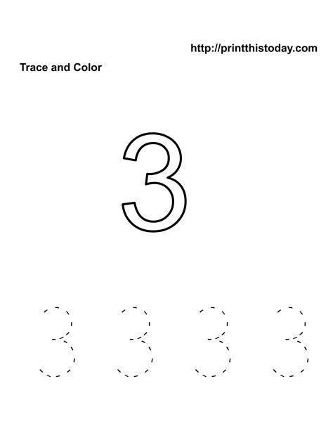 tracing number 3 worksheet number 3 tracing worksheets free worksheets library