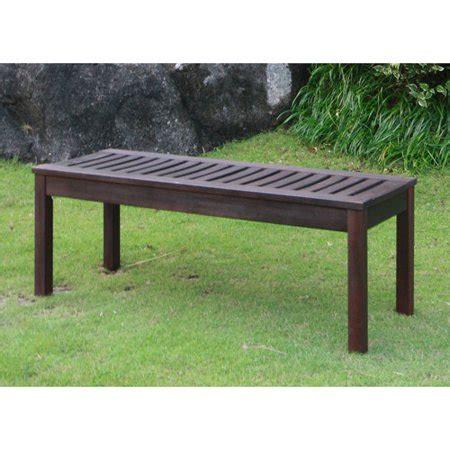 walmart outdoor bench delahey backless outdoor garden bench brown seats 2