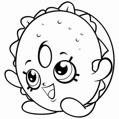Shopkins Coloring Pages Rocks Bagel Billy