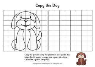 grid copy puzzles require kids  copy  pictures