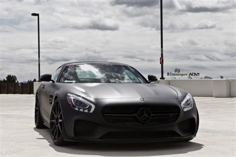Matte Black Mercedes-benz Amg Gt S