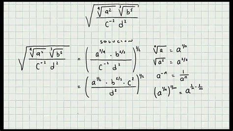 Ejercicio Potencias Y Radicales  Algebra General Mi