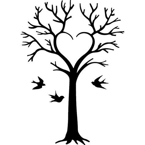 stickers bureau sticker arbre en coeur et oiseaux