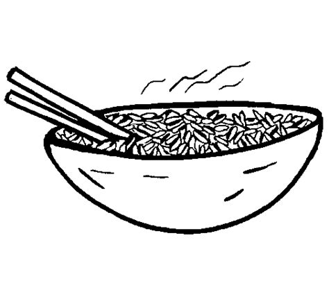 Coloring Rice by Rice Coloring Page