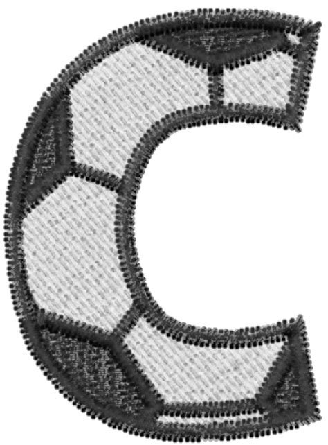 c design patterns sports embroidery design soccerball letter c from