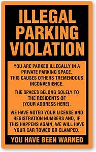 Illegal Parking Stickers Parking Lot Stickers