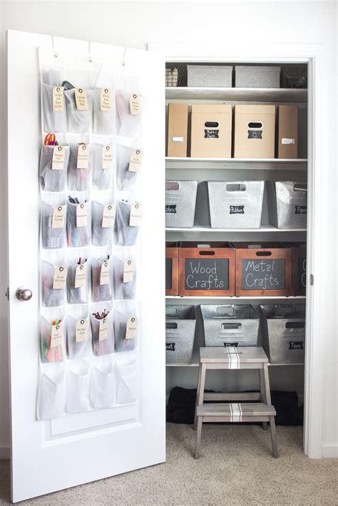 Organize Craft Closet how to organize a craft closet