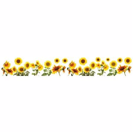 Ideas To Decorate Your Kitchen - sunflowers border decal home d cor line wall decals