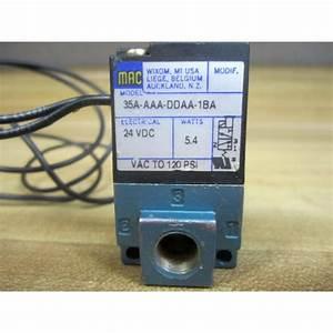 Mac Valves 35a-aaa-ddaa-1ba Solenoid Valve - Used