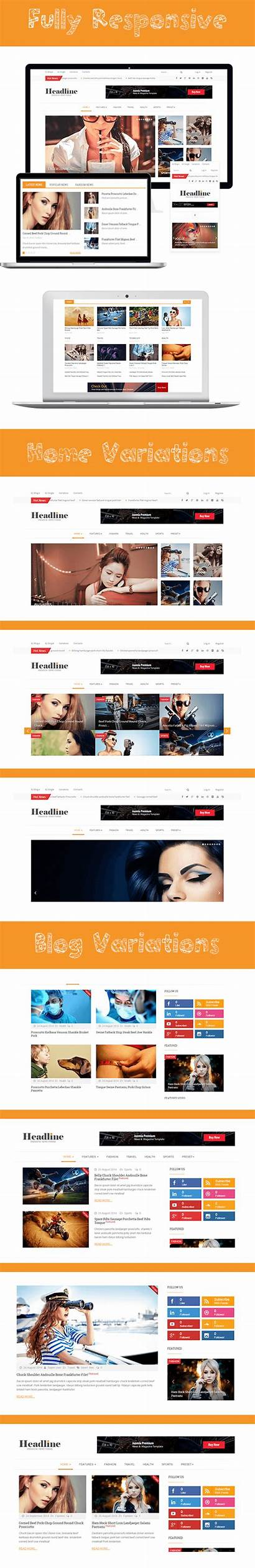 Magazine Headline Joomla Magazines Responsive Headlines Themeforest