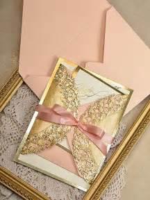 wedding program stationary gold and wedding invitation gold invitation