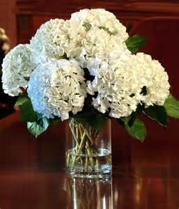 White Hydrangea Wedding Flower Arrangements