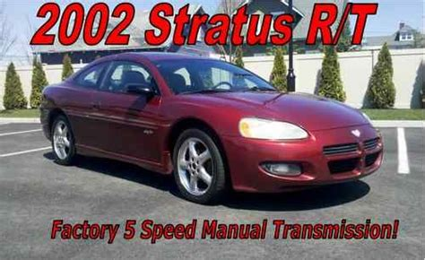 best auto repair manual 2001 dodge stratus spare parts catalogs purchase used 2002 dodge stratus r t coupe 2 door 3 0l 5 speed manual no reserve in bay shore