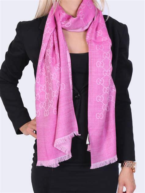 gucci gg silk wool scarf fuchsia luxury bags