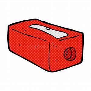 Comic Cartoon Pencil Sharpener Stock Photo - Image: 52943242