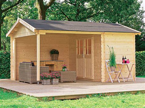 abri jardin avec terrasse cabanes abri jardin