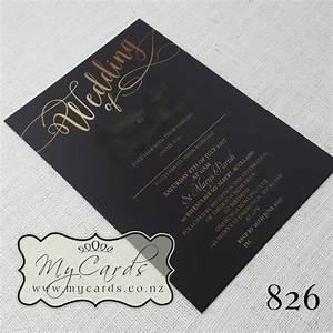 gold writing on black background invitations design 826 With wedding invitations gold writing