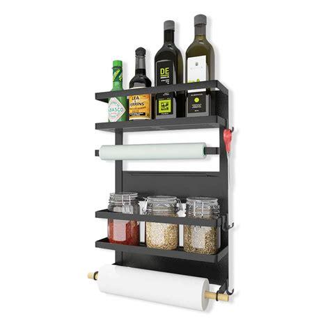 Refrigerator Spice Rack by Kingberwi Refrigerator Organizer 4 Tier Magnetic Spice